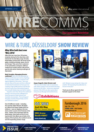 awi newsletter thumb - Alloy Wire International