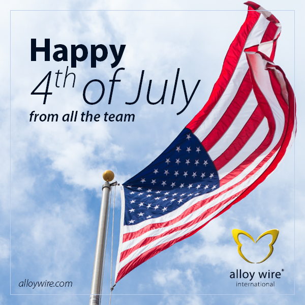 AWI Tweets CalenderCelebrations 4th July - Alloy Wire International