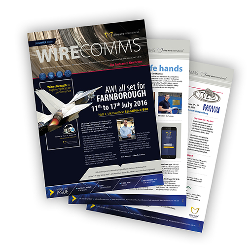 awi summer newsletter thumb - Alloy Wire International